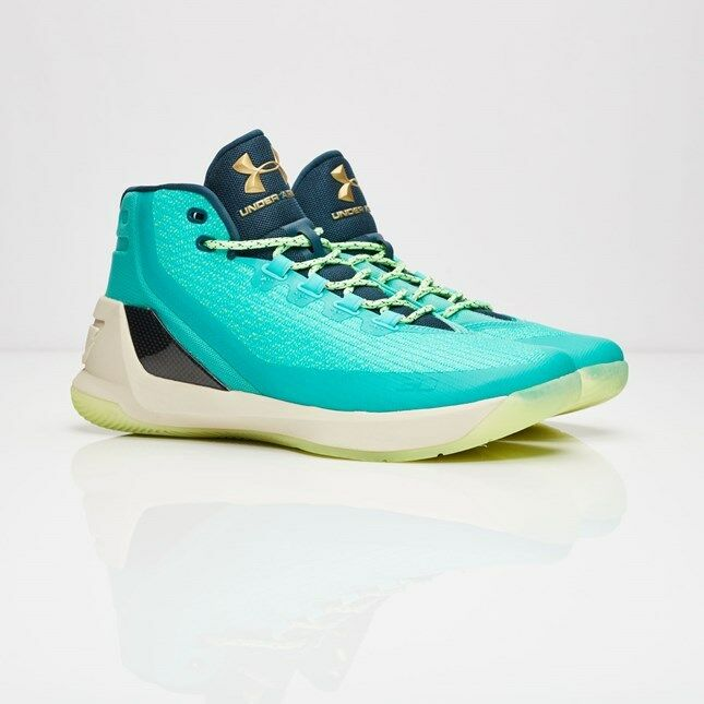 Under Armour UA Steph Curry 3  Reign Water  SZ 9 Neptune Sable 1269279-370