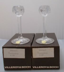 Villeroy and Boch - 2 x Wildrose 24% LEAD CRYSTAL CANDELIERI NUOVO IN SCATOLA 							 							</span>
