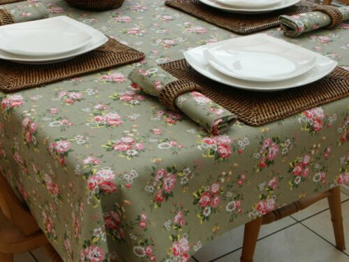 100/% COTTON VINTAGE STYLE TABLECLOTH// RUNNER// NAPKINS 8 DESIGNS