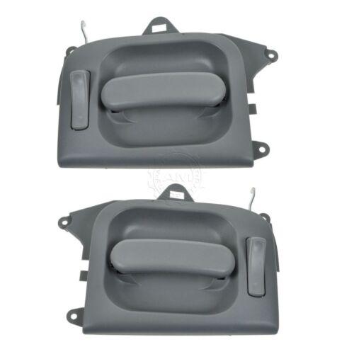 Door Handles Interior Inside Rear Gray Pair Set of 2 for 02-05 Kia Sedona