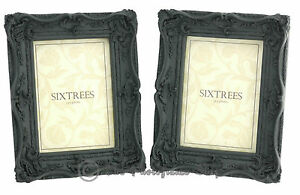TWINPACK-Shabby-Chic-Very-Ornate-Antique-Black-Photo-Frames-for-7-034-x-5-034-pictures