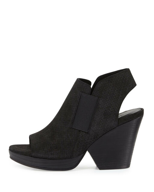 Eileen Fisher Irwin Black Suede Ankle Booties Boots 6.5 9 7.5 9.5 8 8.5