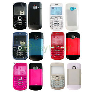 purchase cheap ea4a2 75e31 Details about New Full Housing Cover Case Front Back Keypad Replacement For  Nokia C3 C3-00
