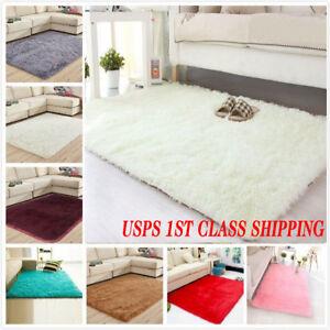 Fluffy-Rugs-Anti-Skid-Shaggy-Area-Rug-Carpet-Rectangle-Floor-Mat-Home-Bedroom-US