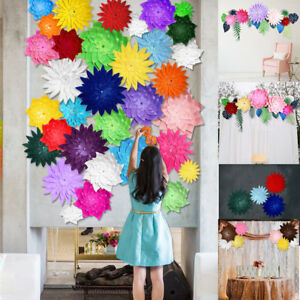 20cm Diy Paper Flowers Leaves Backdrop Decor Kids Birthday Party