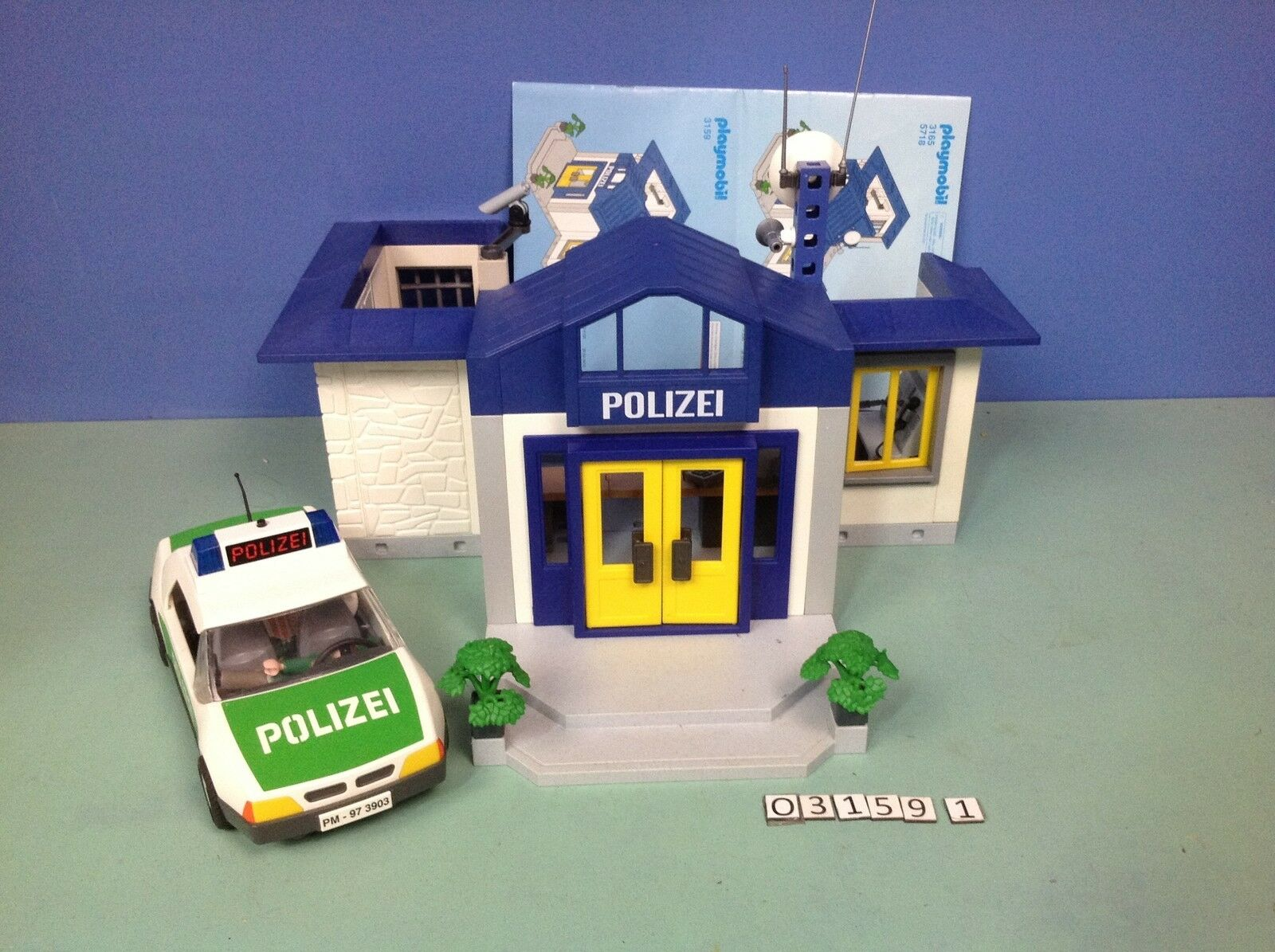 (O3159.1) Playmobil Estación  polizia (Policía) + Coche Ref 3159 3903  protezione post-vendita