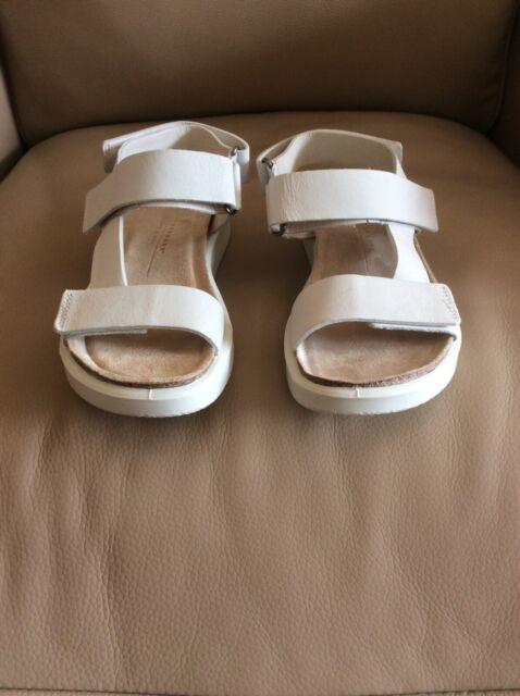 Ecco ladies cream flat sandle size 4 uk corksphere