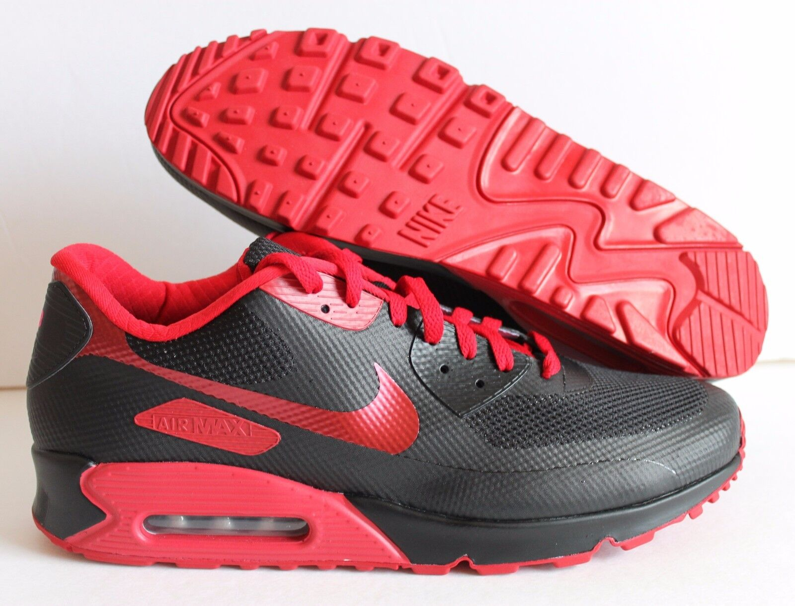 Nike Hombres AIR MAX 90 Hyperfuse Hyperfuse 90 Premium ID Negro/Rojo [653603-992] 8c737e