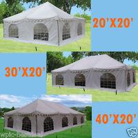 Pvc Pole Tent - White - 3 Sizes Available - 20'x20' / 30'x20' / 40'x20'