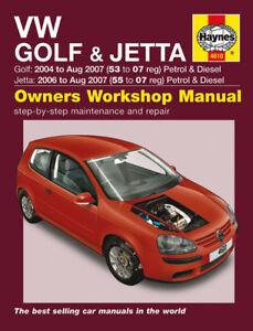 haynes workshop repair manual vw golf jetta 04 07 ebay rh ebay ie 2008 Jetta Manual 2007 Jetta Manual