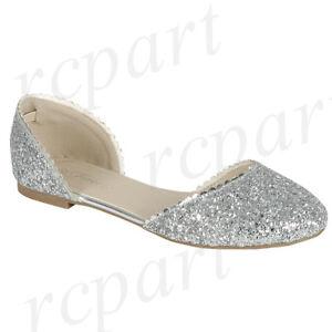 New women\'s shoes ballerina ballet flats glitter round toe wedding ...
