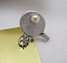 Vintage Sterling Silver 3D Griffith Table Tennis Ping Pong Sports Bracelet Charm