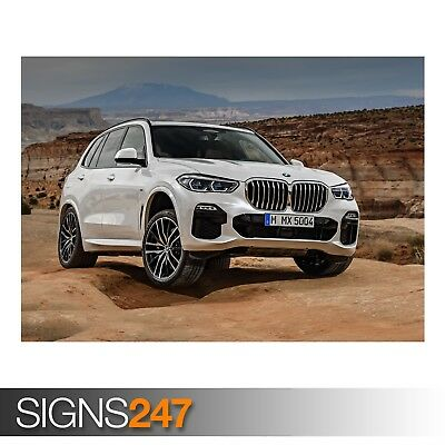 BMW X5 XDRIVE30D M SPORT ZZ019 CAR POSTER Poster Print Art A0 A1 A2 A3