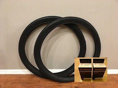 Pair of 26x2.125 Duro Slick DB-7053 Bicycle Cruiser WhiteWall 2 Tires 2 Tubes