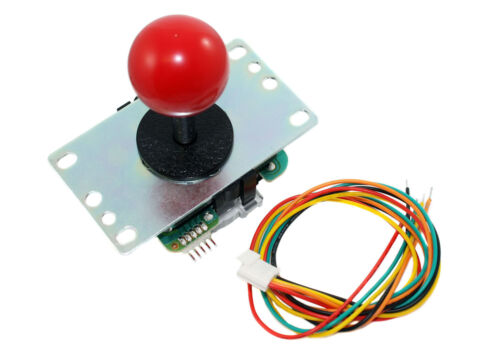 Sanwa Joystick 8-way with Red Ball Top JLF-TP-8YT