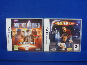 DS-DOCTOR-WHO-X2-Evacuation-Earth-amp-Top-Trumps-Lite-DSI-Nintendo-PAL