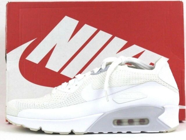 3df91176 Nike Mens Air Max Ultra 2.0 Flyknit Shoes Sneakers 875943 101 Whtite 10.5  11.5