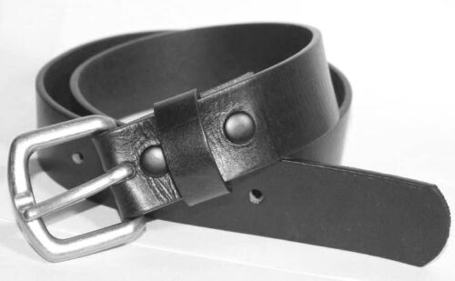 "SIZES 40/"" TO 50/"" WAIST AMERICAN MADE 1.25/"" WIDE 100/% COWHIDE BLACK LEATHER BELT"