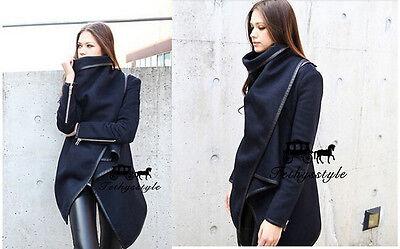 Women's Fashion Warm WOOL Trench Windbreaker Parka Outwear Slim Long Coat Jacket