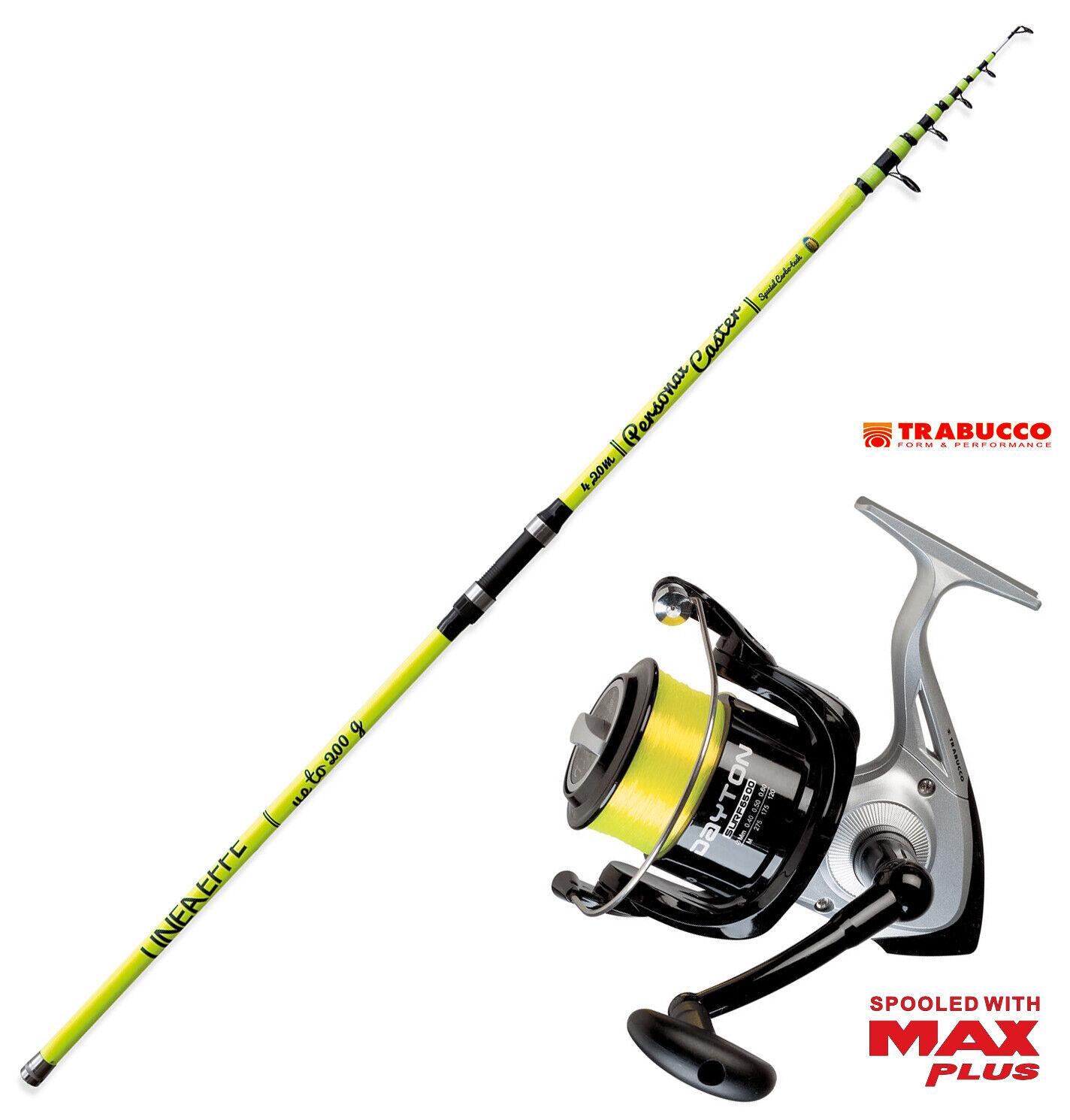 KP3512 Canna pesca Surf Personal caster 420  + Mulinello Trabucco 6500 filo FEU  precio mas barato