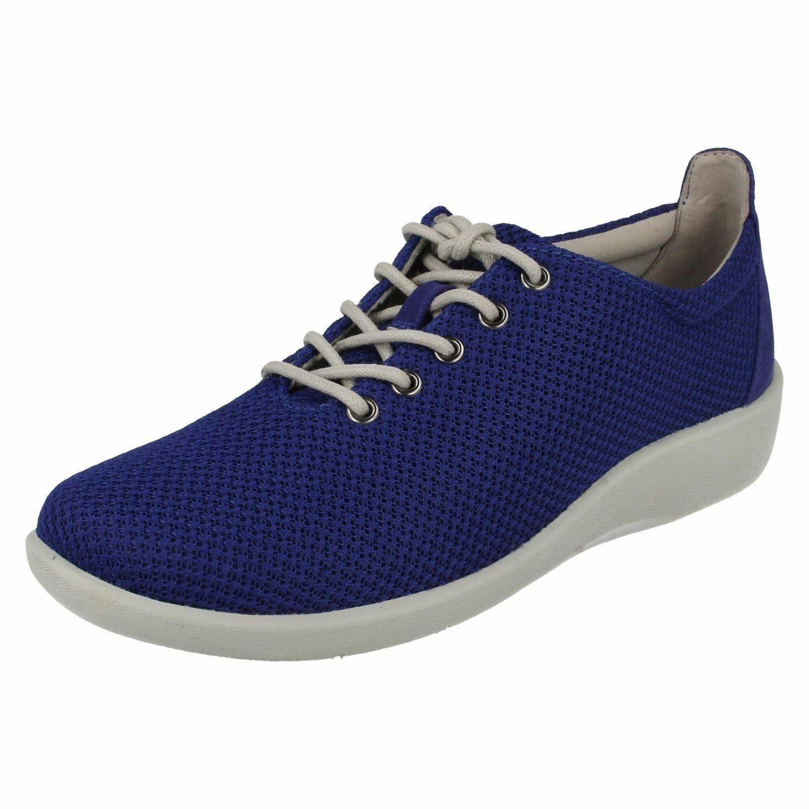 Clarks Donna WIDE FIT BLU CASUAL SCARPE Sillian TINO