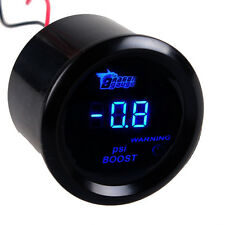 "2"" 52mm Black Cover Car Universal Digital Blue LED PSI Turbo Boost Gauge Meter"