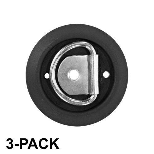 Capacity One-Hole Tie Down 3-Pack Surface Tiedowns D-Ring 1,200 lb