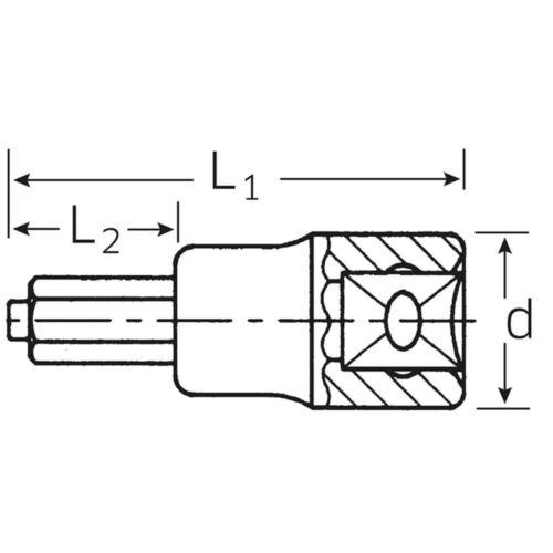 "STAHLWILLE 1//2/"" Zoll Steckschlüsseleinsatz  Ø 6 mm  m Zapfenführunghrung"
