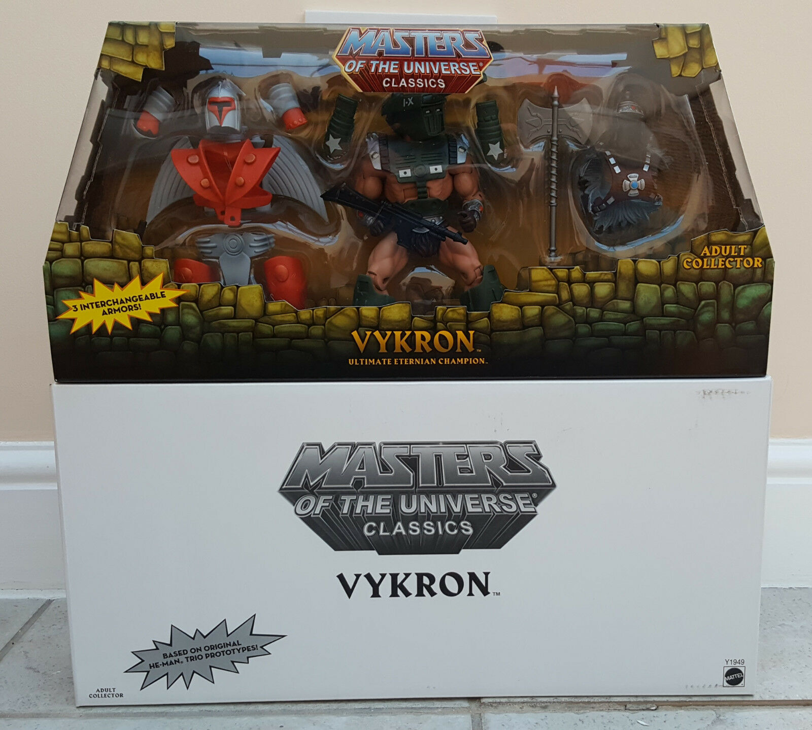 MOTUC Vykron Masters of the Universe Classics He-Man MIB