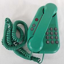 Vtg 80s Bell Corded Desk Wall Telephone Phone Funky Geometric Green Pink Prop