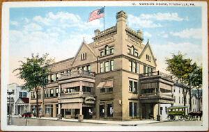 Image Is Loading 1920 Postcard Mansion House Hotel Usville Pennsylvania Pa