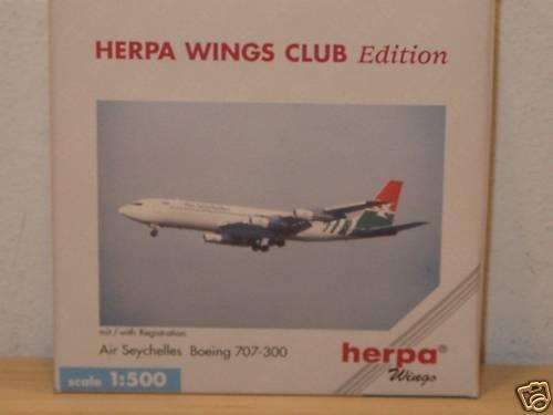 Herpa Wings B707-300 Air SEYCHELLES 1:500 512053 Club-Model