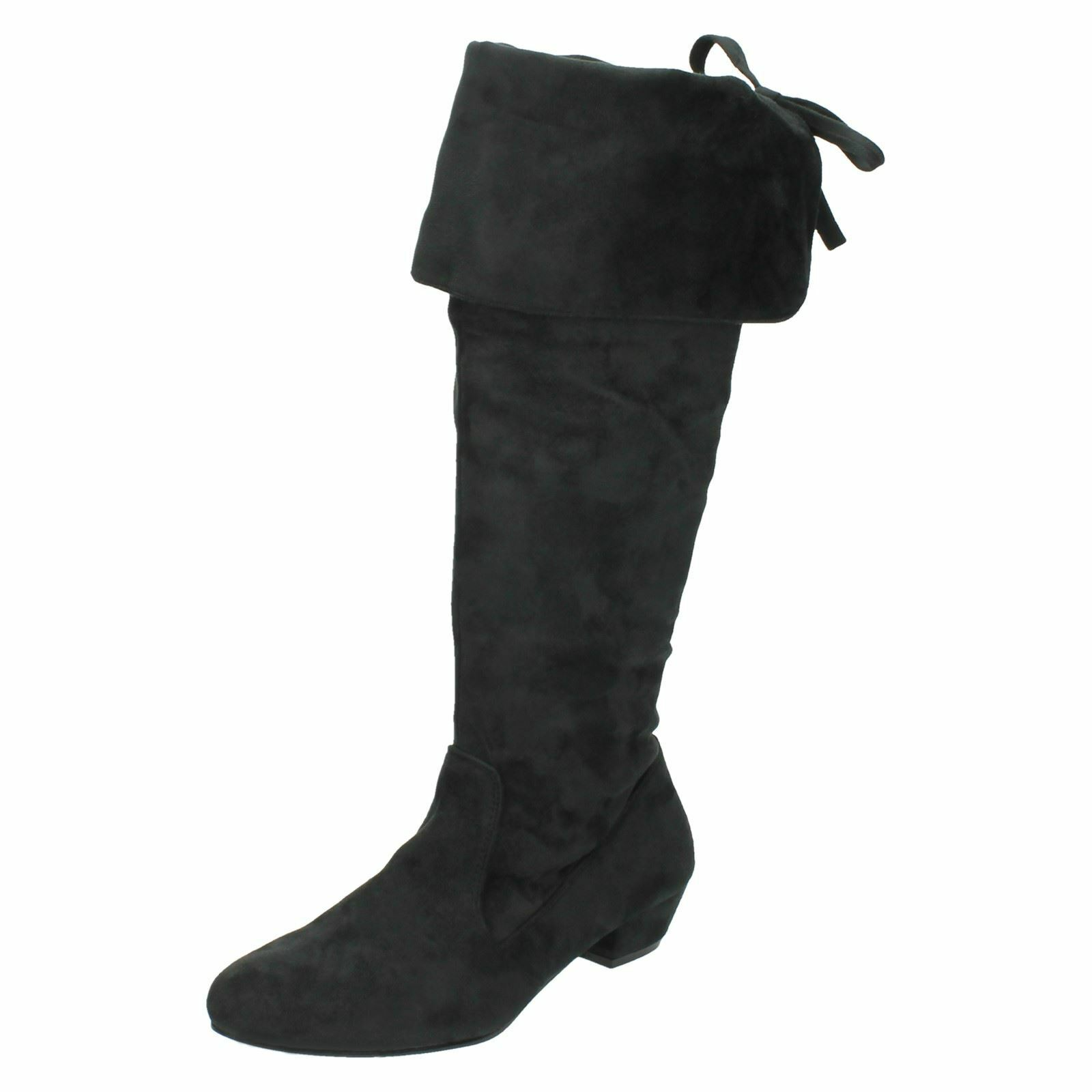 SALE WAS £29.99 NOW £9.99 Ladies Spot On black microfiber knee high boot F50203