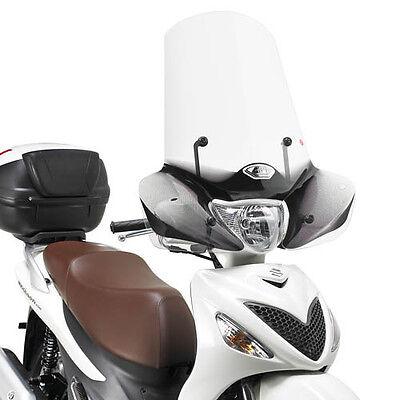 169a+a169a Givi Parabrezza Trasparente + Attacchi > Suzuki Sixteen 150 2010 2011 In Viaggio