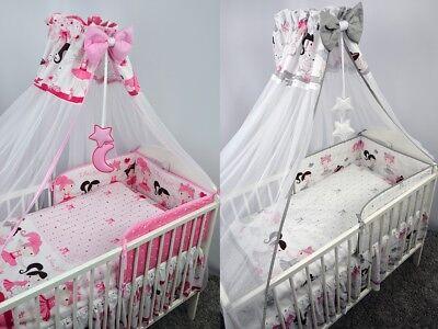 Herzhaft Bettset Baby 8-9 Tlg Bettwäsche Nestchen Himmelstange 120x60 Balerin