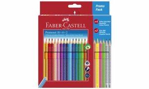 FABER-CASTELL Dreikant 18 Buntstifte Colour GRIP Promo + Bleistifte + Neonstifte