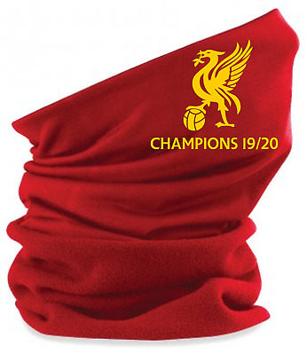 LIVERPOOL Champions SNOOD FACE MASK NECK WARMER STOCKING FILLER EMBROIDERED