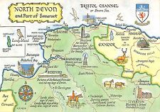 BR90358 north devon map cartes geographiques and part of somerset  uk