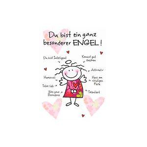Details Zu Postkarteumschlagdu Bist Ein Ganz Besonderer Engelherzensprüchedesign At Home