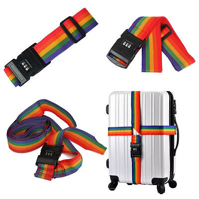 Adjustable Personalise Travel Luggage Suitcase Lock Safe Belt Strap Baggage Tie