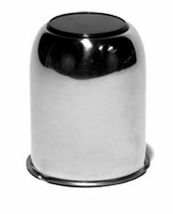 90175 Cntr Cap; Ss  3.18 Bore W/Blck Butn