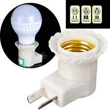 E27 Base To AC Power 110V 220V Lamp Bulb Socket Adapter Converter US Plug On-Off