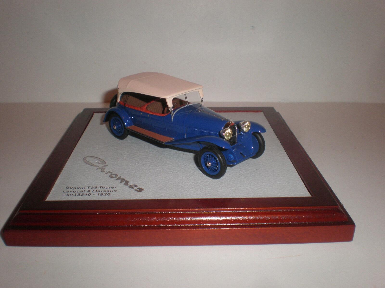 nuevo sádico 1 43 Ilario Ilario Ilario 1926 Bugatti Tipo 38 Tourer Lavocat & marsault Cerrado Chro 036  perfecto
