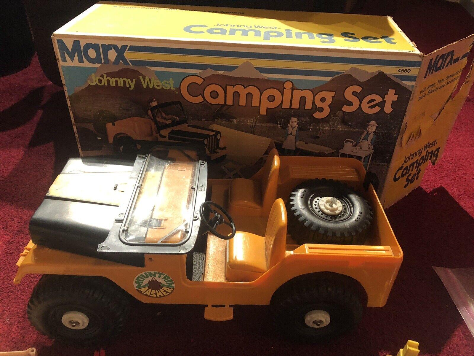 VINTAGE 1960s MARX JOHNNY WEST CAMPING SET scatola