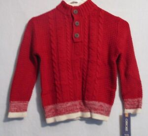 Nwt Cherokee Toddler Boys Color Red Velvet Sweater Size 12 Months