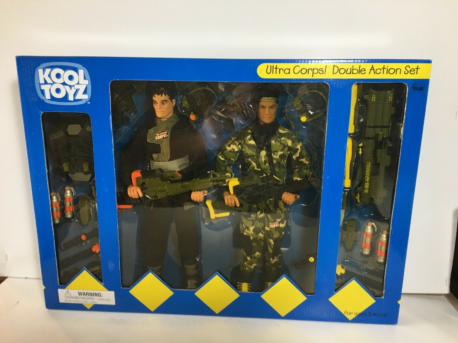 "Rare 2000 Lanard Ultra Corps Double Action Set 12"" Figures New Sealed"
