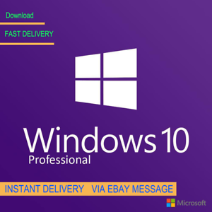1cc614b46cb GENUINE WINDOWS 10 PROFESSIONAL PRO KEY 32   64 BIT ACTIVATION CODE ...