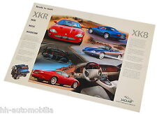 Jaguar XK8 XKR Poster Prospekt 1996 brochure Auto Pkw Sportwagen England Europa