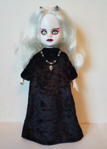 Goth-Black-GOWN-and-Skull-NECKLACE-for-LIVING-DEAD-DOLLS-hm-fashion-NO-DOLL