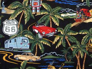 Reyn-Spooner-Hawaiian-Shirt-Pixar-John-039-s-50th-Sz-L-Lassiter-Women-039-s-Cars-Palms